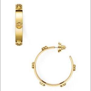 NWT Tory Burch gold hoop earrings